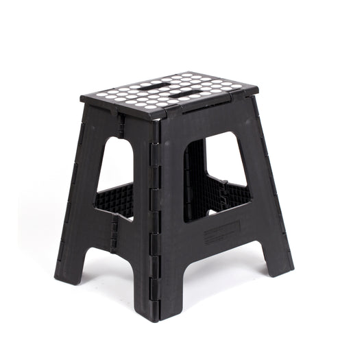 Step Stool Folding Tall Black