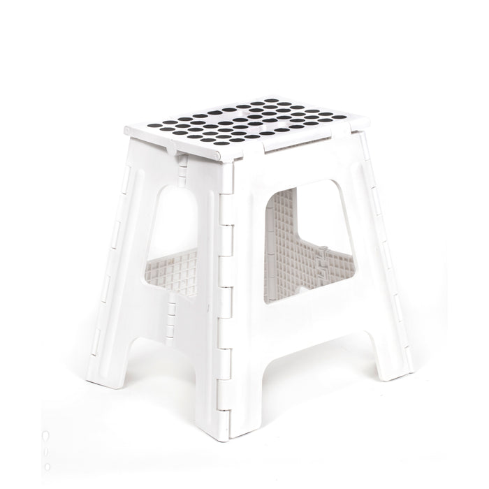 Step Stool Folding Tall White