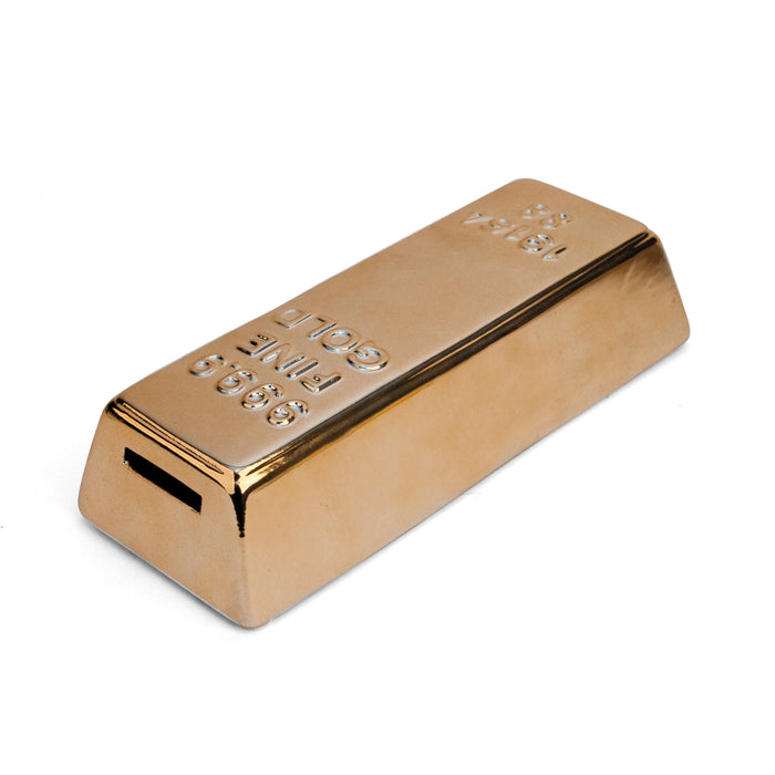 Ceramic Gold Bar Coin Bank