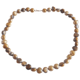 Brown Freshwater Pearl Smooth Nugget Necklace - Pearly Pearl - 1