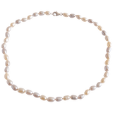 Rice Shaped Freshwater Pearl Necklace - Pearly Pearl - 1