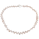 Pink Button Freshwater Pearl Necklace - Pearly Pearl - 1