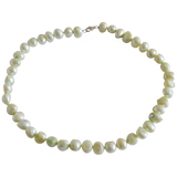 Pastel Green Smooth Nugget Freshwater Pearl Necklace - Pearly Pearl - 1