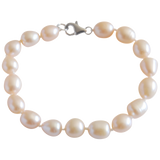 Peach Potato Freshwater Pearl Bracelet - Pearly Pearl - 1