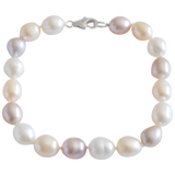 Multicolored Potato Freshwater Pearl Bracelet - Pearly Pearl - 1