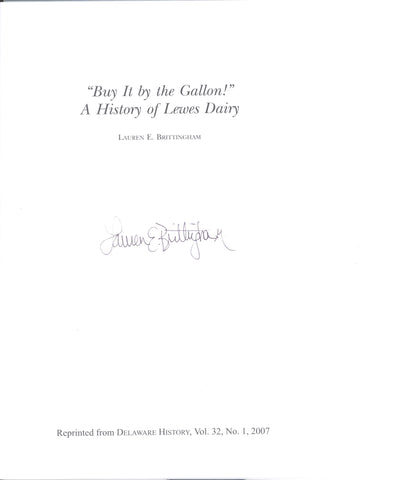 Buy It by the Gallon - A History of Lewes Dairy