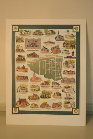 Historic Lewes Delaware Poster
