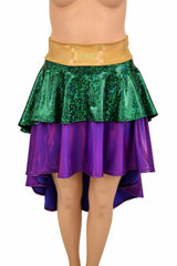 Hi Lo Layered Mardi Gras Skirt (Skirt Only) - Coquetry Clothing