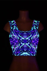 Neon Melt Crop Top - Coquetry Clothing