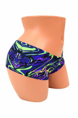 Neon Melt Cheeky Booty Shorts - Coquetry Clothing