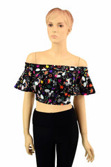 Off Shoulder Crop Top - Coquetry Clothing