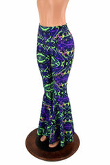 Neon Melt High Waist Bell Bottom Flares - Coquetry Clothing