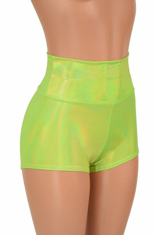 Lime High Waist Shorts - Coquetry Clothing
