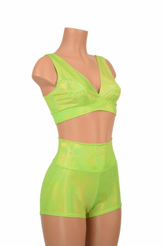 Starlette Bralette & High Waist Shorts Set - Coquetry Clothing