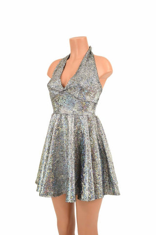 406d23d5d285 Silver Shattered Glass Skater Dress – Coquetry Clothing