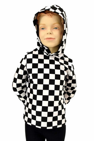 Childrens Black & White Hoodie - Coquetry Clothing