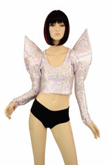 Pink Scale Mega Sharp Shoulder Crop - Coquetry Clothing