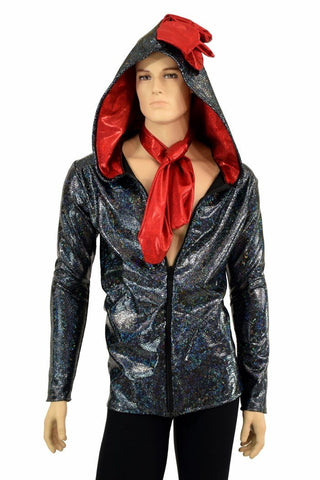 Mens Rooster Chicken Zipper Jacket - Coquetry Clothing