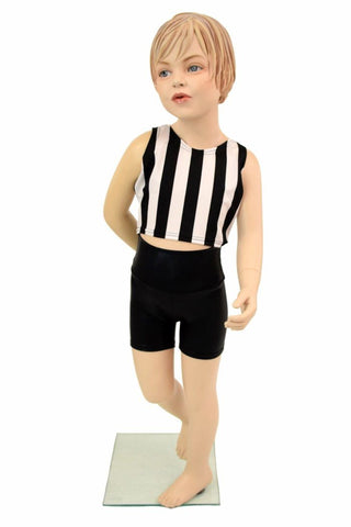 Girls Black & White Shorts & Top Set - Coquetry Clothing