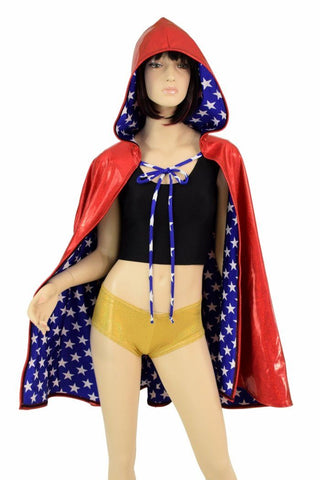 "35"" Reversible Hooded Cape - Coquetry Clothing"