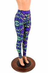 Neon Melt High Waist Leggings - Coquetry Clothing