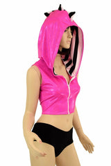 Dragon Crop Hoodie & Cheekies Set - Coquetry Clothing