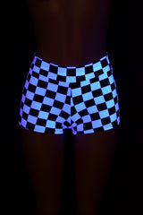 Checkered Mid Rise Shorts - Coquetry Clothing