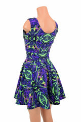 UV Glow Neon Melt Tank Skater Dress - Coquetry Clothing