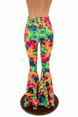Acid Splash High Waist Bell Bottom Flares - Coquetry Clothing