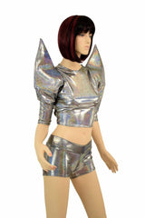 Silver Mega Sharp Shoulder Set - Coquetry Clothing