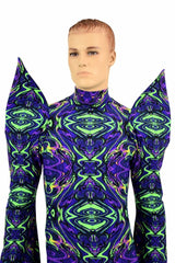 Mega Sharp Shoulder Pixie Sleeve Catsuit - Coquetry Clothing