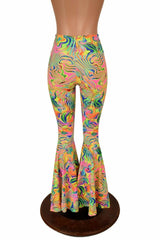 Neon Flux High Waist Bell Bottom Flares - Coquetry Clothing