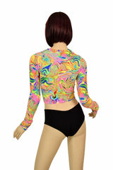 Neon Flux Crop Top - Coquetry Clothing