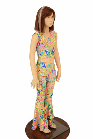 Girls Neon Flux Flares & Top Set - Coquetry Clothing