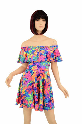 Off Shoulder Skater Dress - Coquetry Clothing