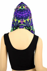 Neon Melt Reversible Infinity Festival Hood - Coquetry Clothing