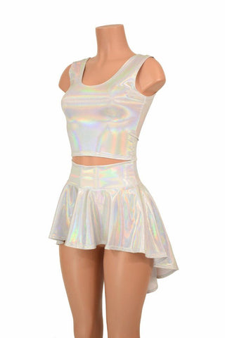 3PC Rave Skirt, Shorts & Top Set - Coquetry Clothing