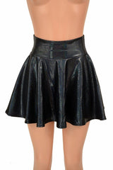 Black Holographic Mini Rave Skirt - Coquetry Clothing