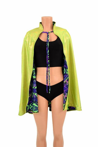 "35"" Reversible Collared Cape - Coquetry Clothing"