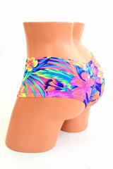 Tahitian Floral Cheeky Booty Shorts - Coquetry Clothing