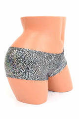 Silver/Black Shattered Glass Cheekies - Coquetry Clothing