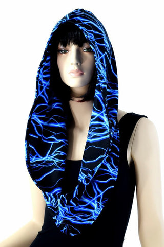 Blue Lightning Infinity Festival Hood - Coquetry Clothing