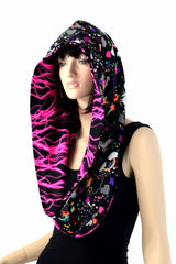 Pink Lightning & Unicorns and Rainbows Infinity Festival Hood - Coquetry Clothing