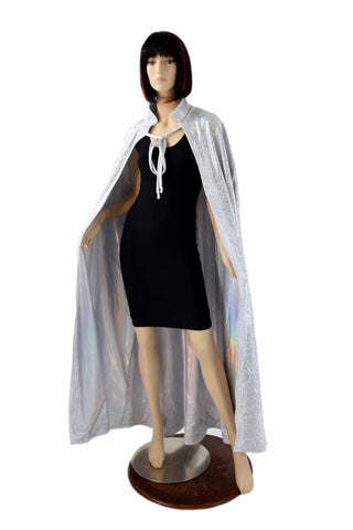 Silver/White and Flashbulb Reversible Cape - Coquetry Clothing