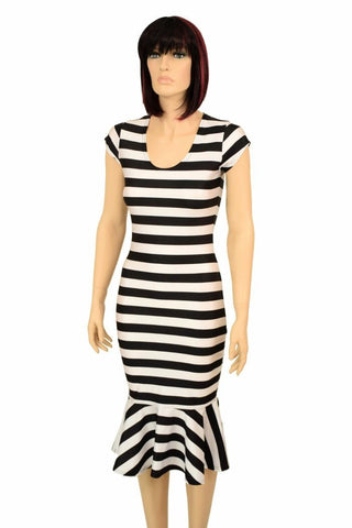 772b9d98875 ... Black   White Wiggle Dress - Coquetry Clothing