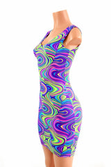 Neon Glow Worm Tank Dress - Coquetry Clothing