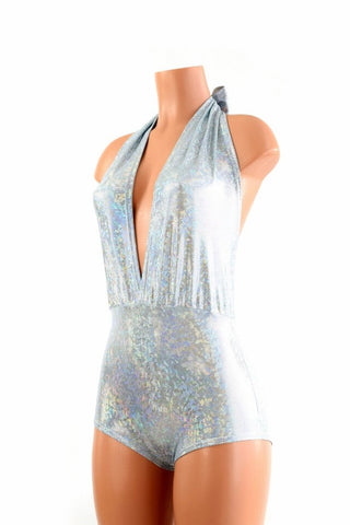 """Josie"" Romper in Frostbite Shattered Glass - Coquetry Clothing"