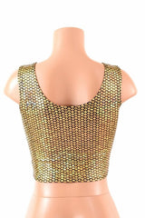 Gold Fish Scale Crop Tank - Coquetry Clothing