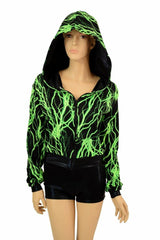 """Kimberly"" Jacket in Neon Lightning Print - Coquetry Clothing"