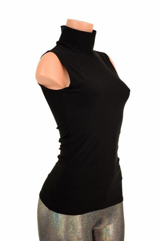 Black Zen Turtle Neck Top - Coquetry Clothing